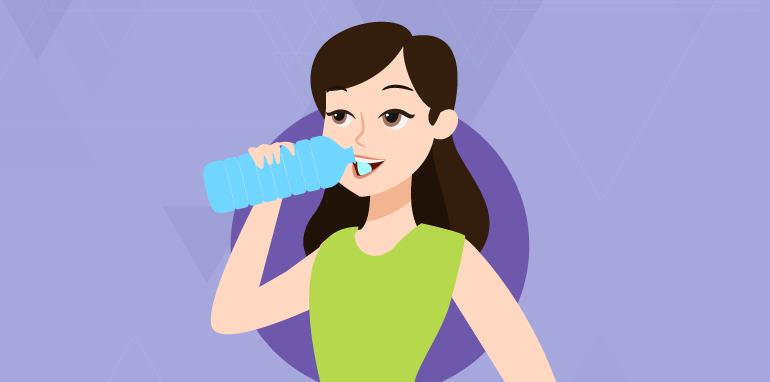 drink water for better skin